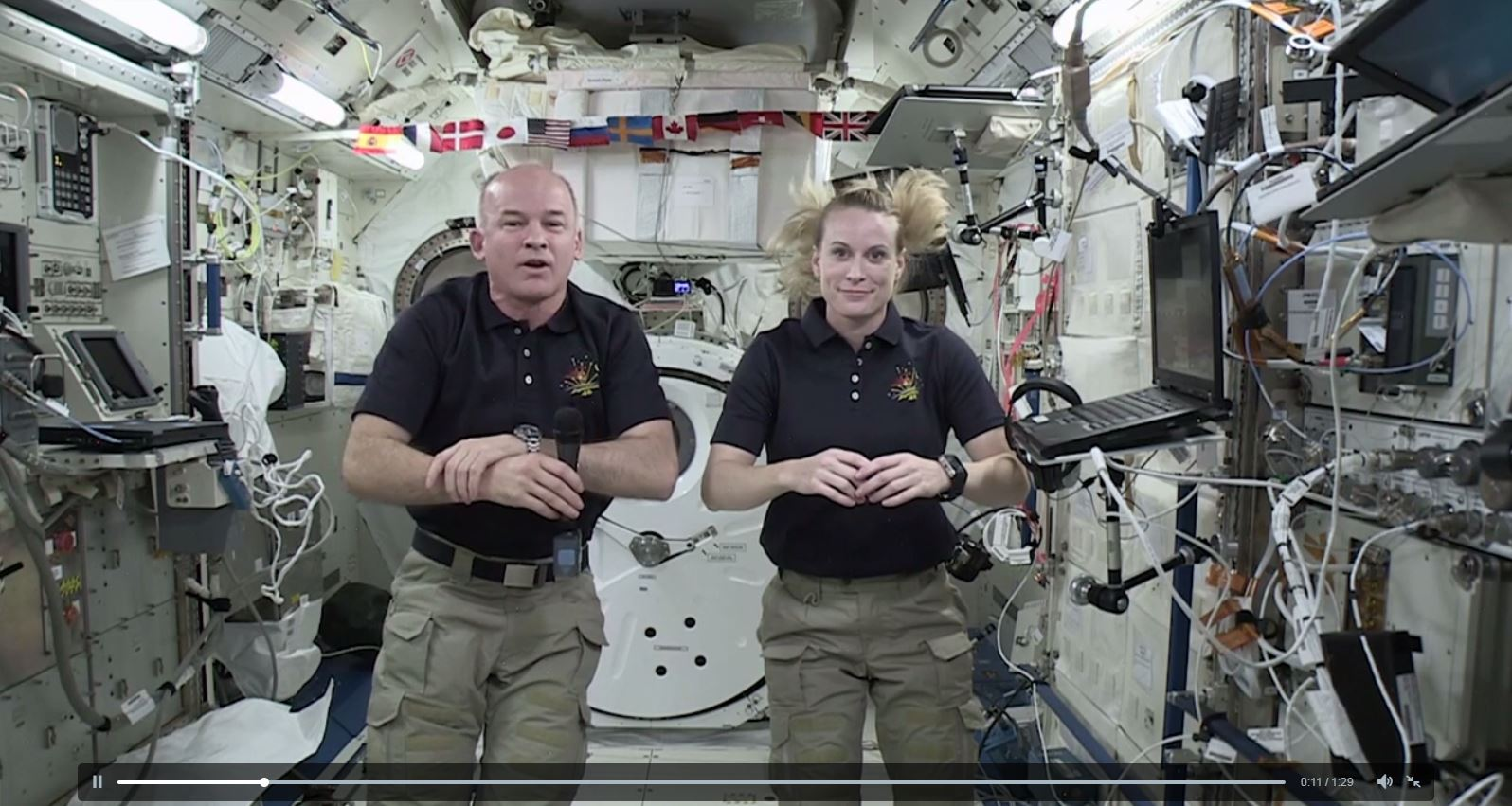 Astronauts on 2016 Olympics screenshot