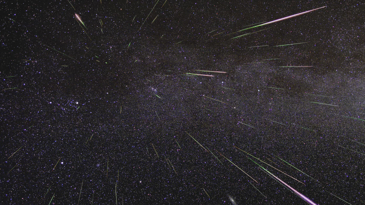Perseid Meteor Shower Time-lapse Image