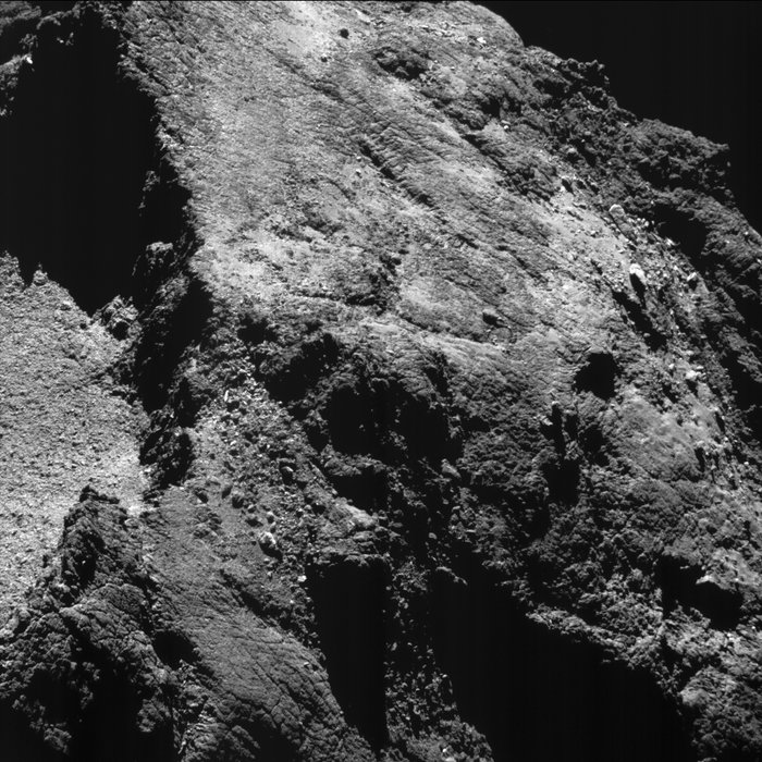 Rosetta View of Comet 67P, Aug. 6. 2016
