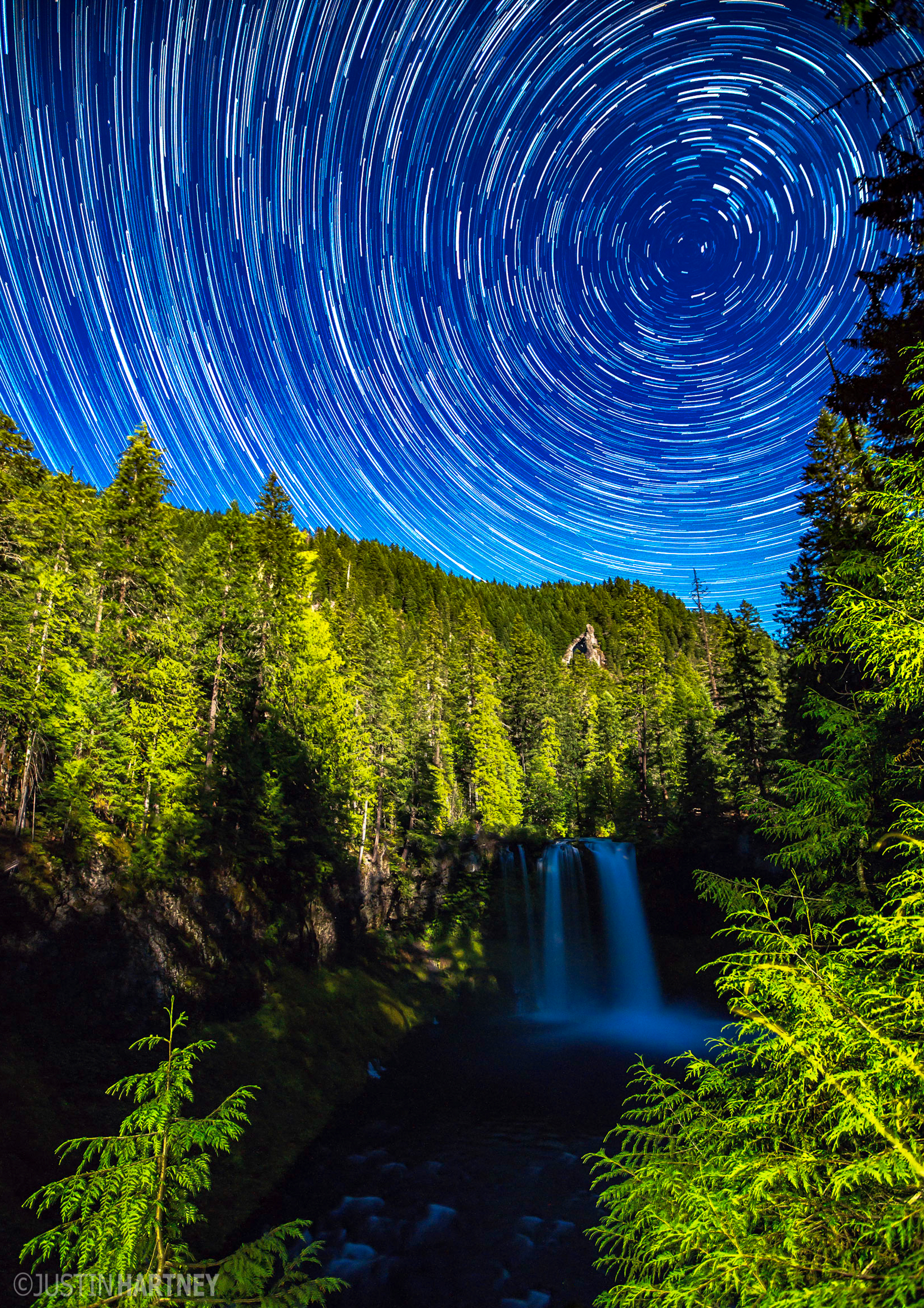 Koosah Falls Star Trail