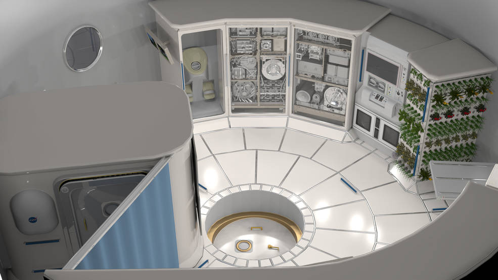 Deep Space Habitat Interior