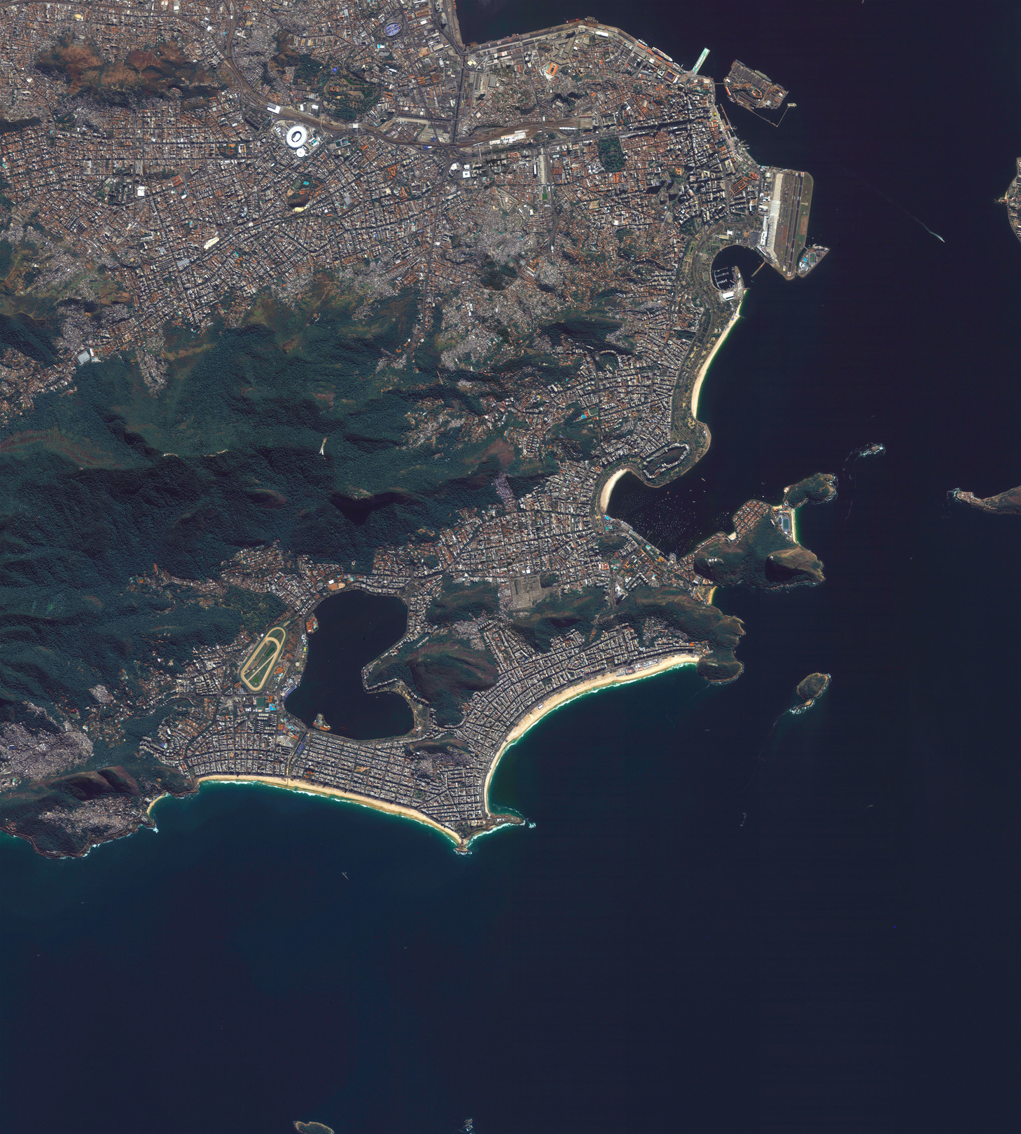 Gold-Medal Views! Incredible Images Show Rio Summer Olympics from Space