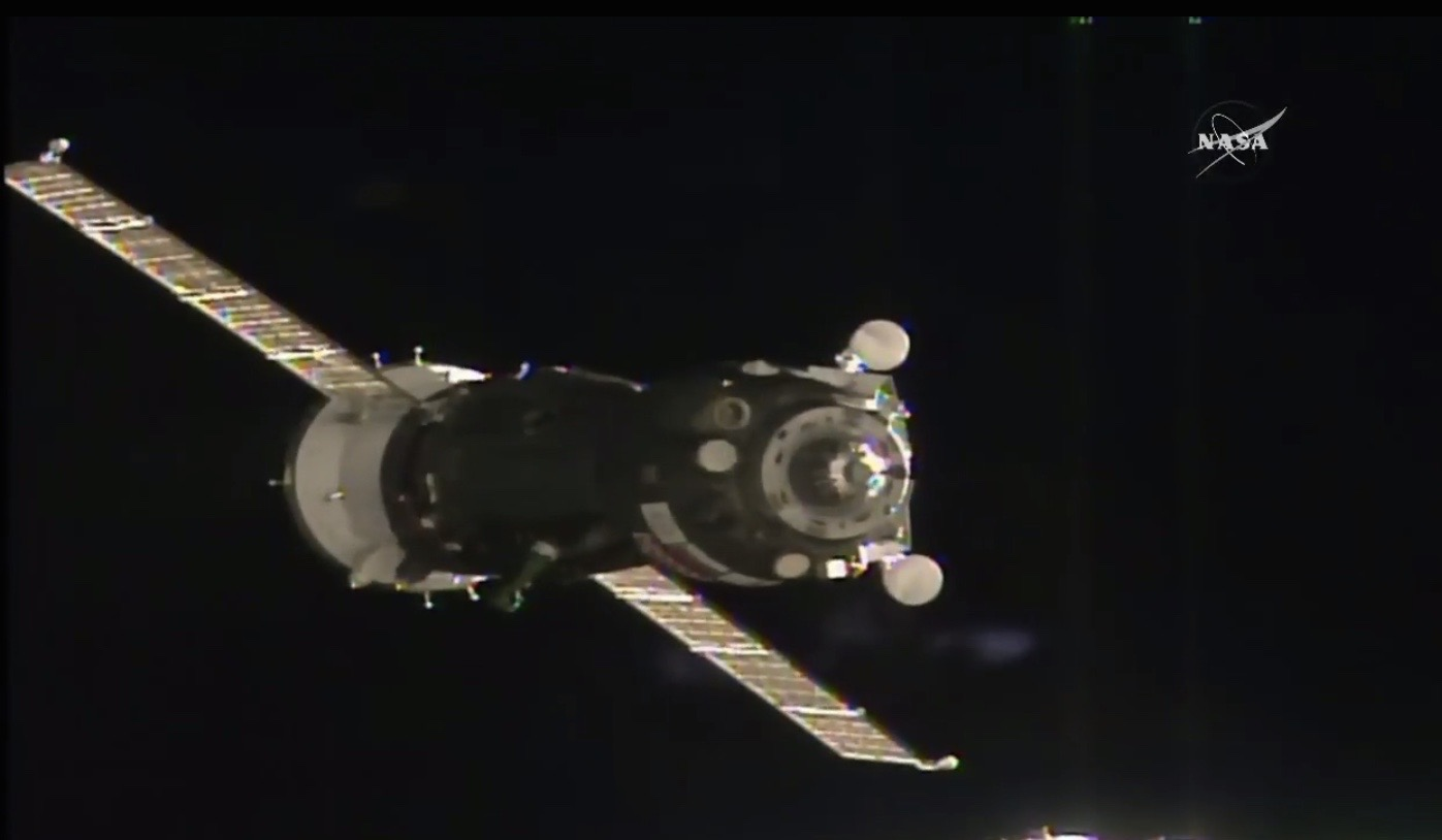 Soyuz Spacecraft Approaches Space Station