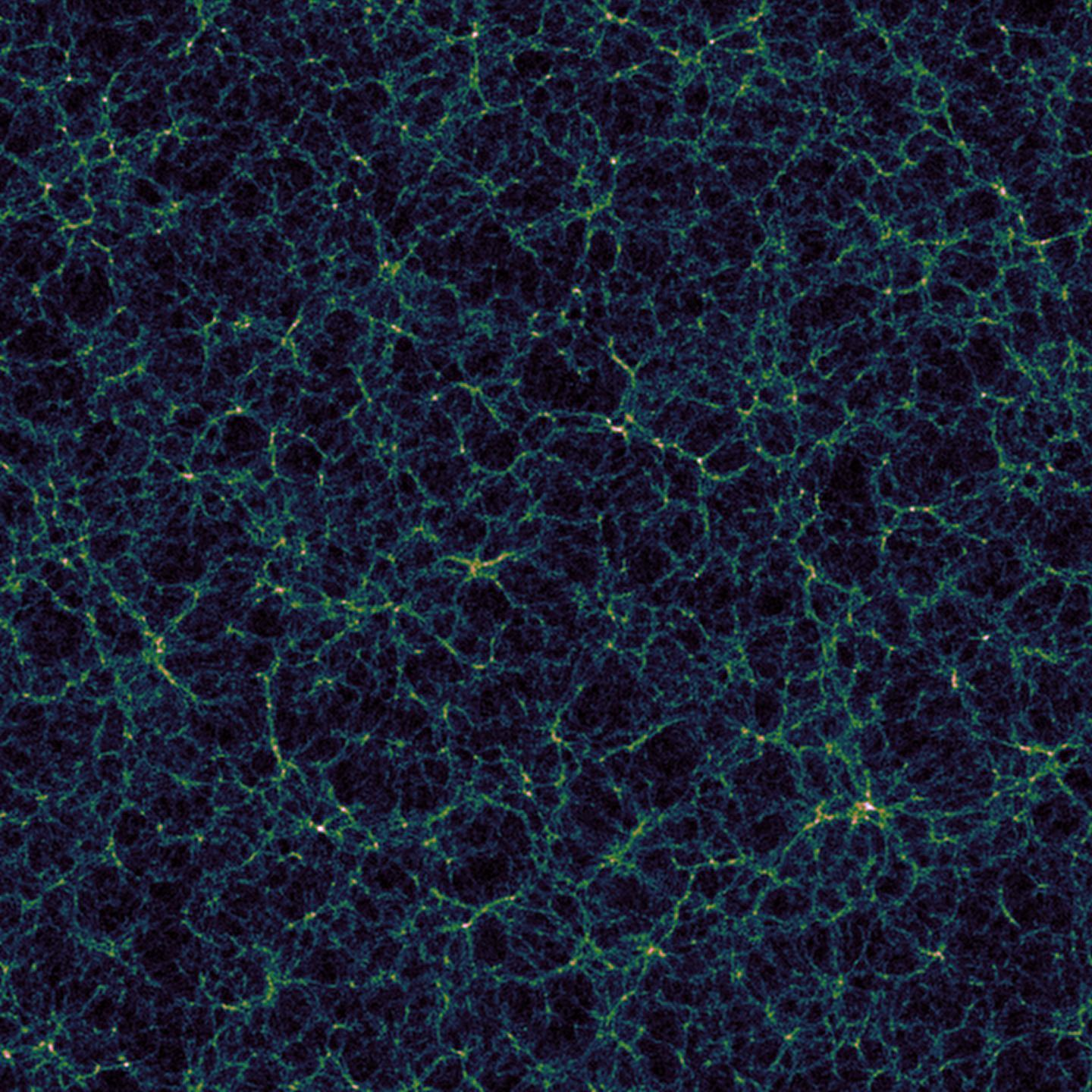 Simulated view of large-scale universe structure
