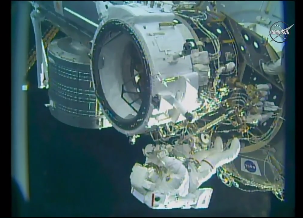 NASA Astronauts Successfully Install New Space Station Docking Port