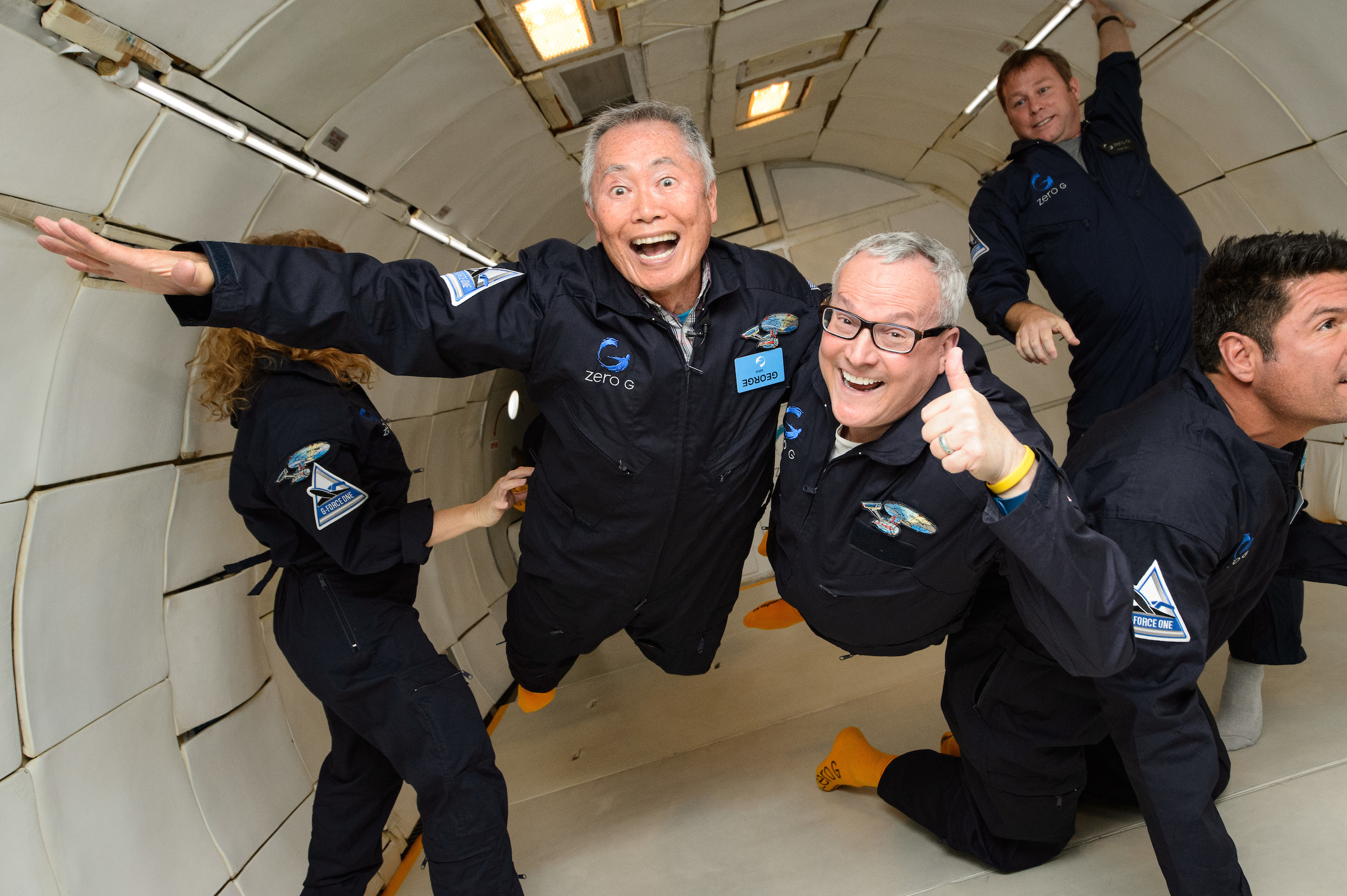 George Takei and Brad Altman on Zero-G