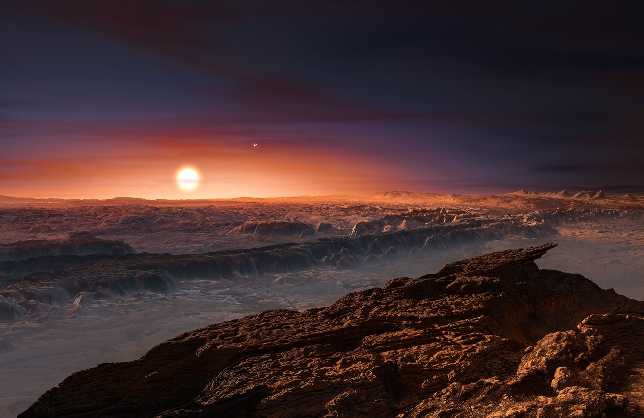 Proxima b's Surface: Artist's Impression