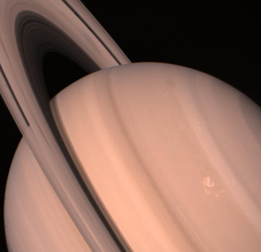 Voyager 2 View of Saturn