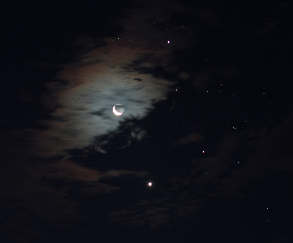 Jupiter, Venus and the Moon