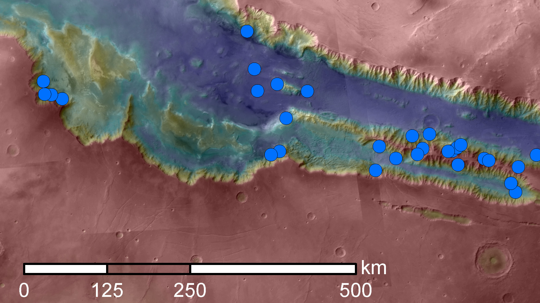 Dark Streaks on Mars Hold Water — But Not Much