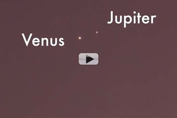 Venus And Jupiter Conjunction Can Be Seen With Naked Eye | Video