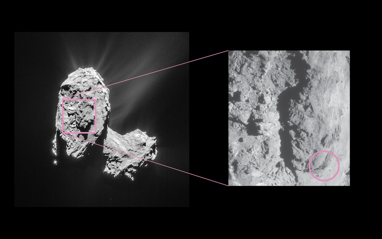 Location of Feb. 19, 2016 Eruption on Comet 67P