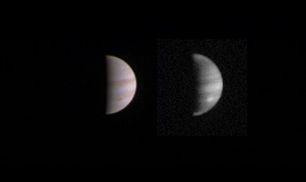 Juno's Dual Views of Jupiter