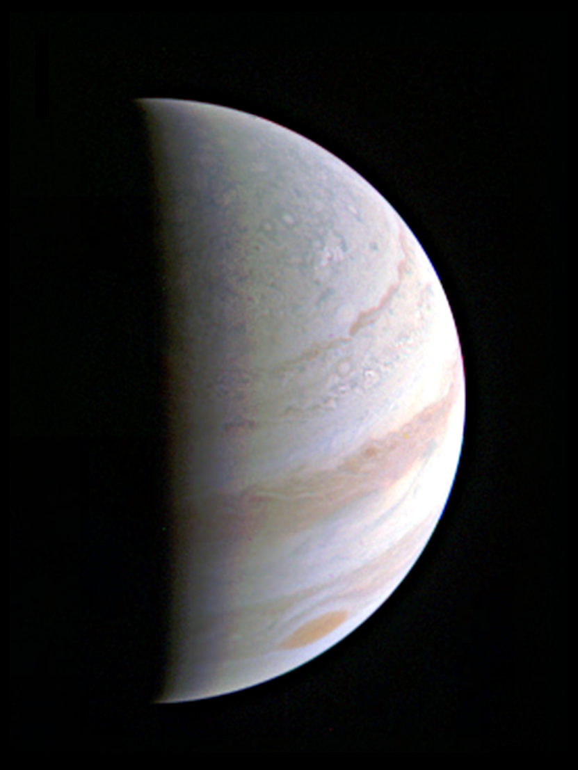 Juno Photo of Jupiter on Aug. 27
