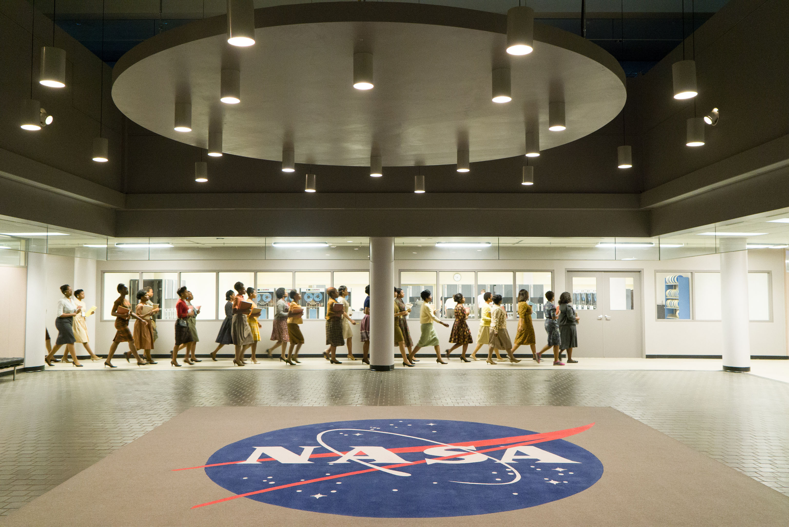 NASA logo floor