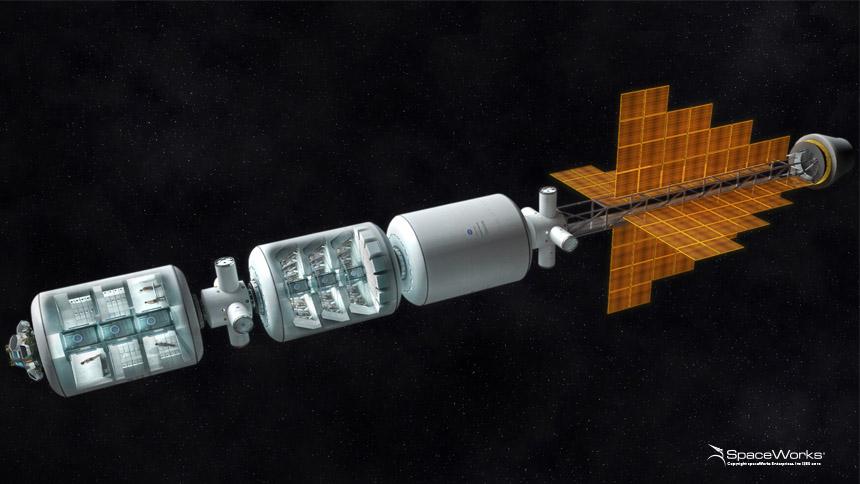 'Mars Transfer Habitat' Full of Astronauts in Torpor