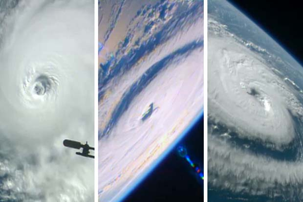 Three Hurricanes Seen From Space Station On Same Day | Time-Lapse Video
