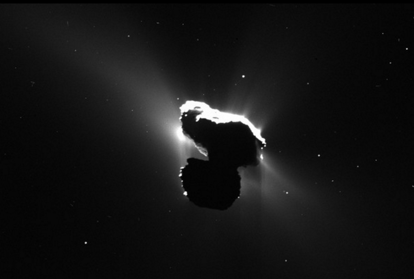 A dusty view of Comet 67P