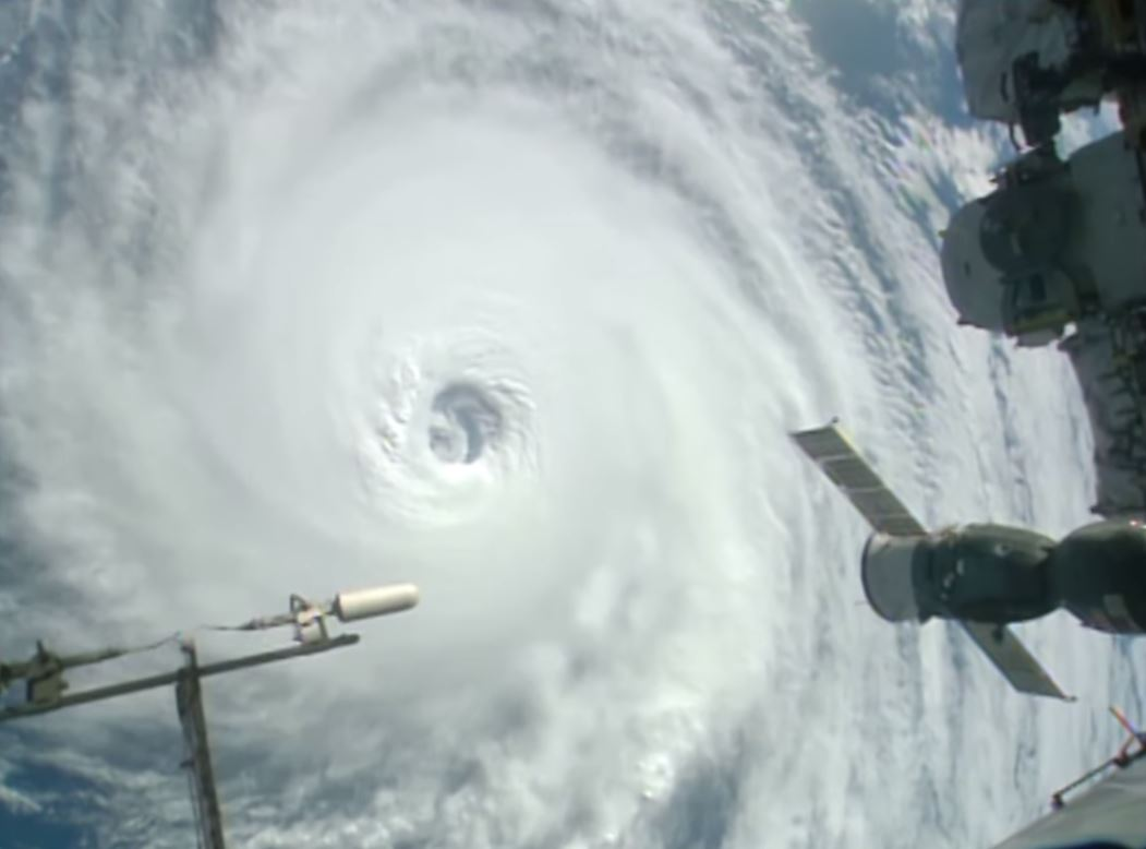 hurricane lester from ISS