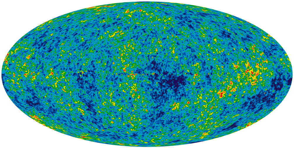 Cosmic microwave background from WMAP telescope