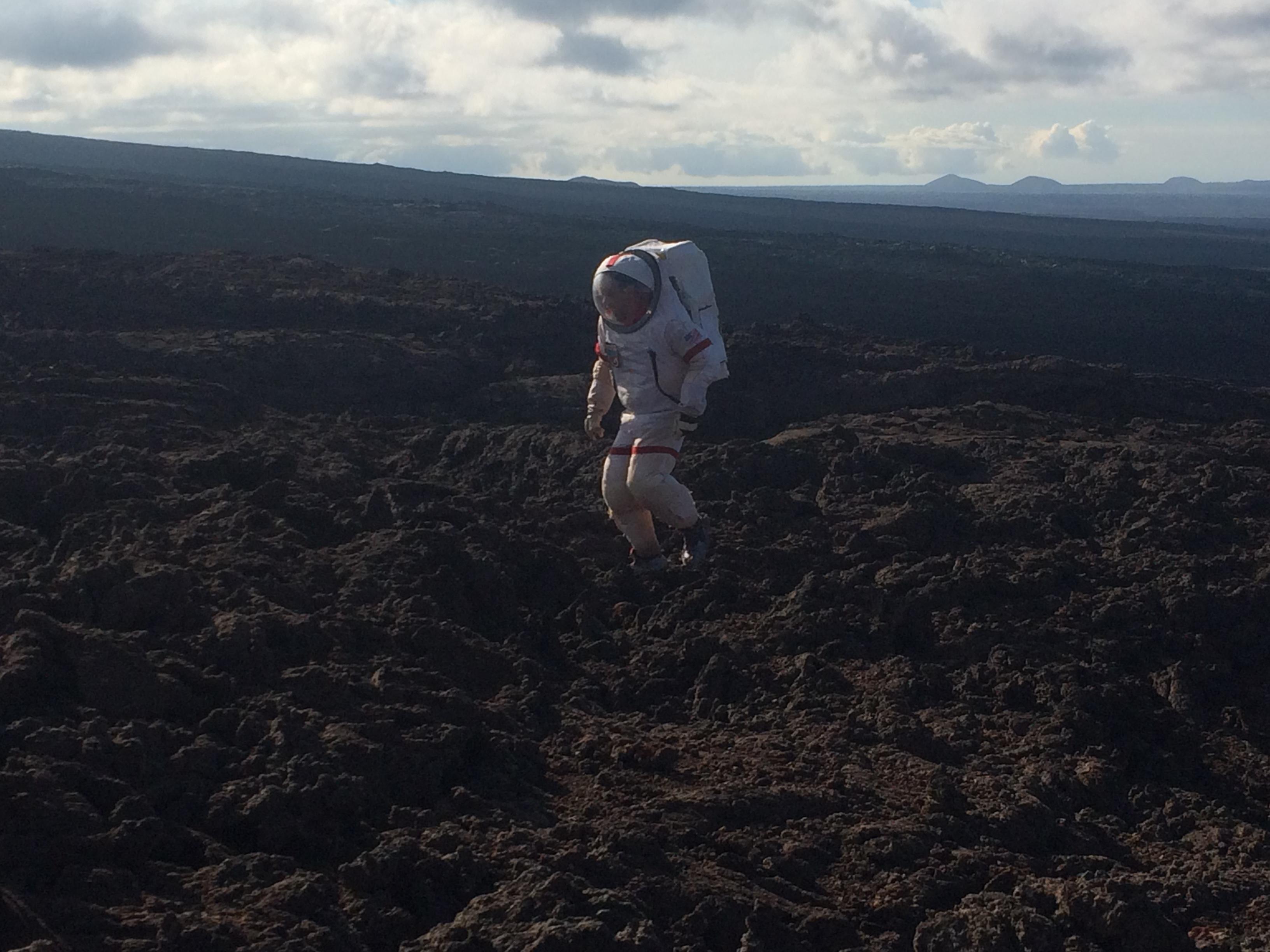 Walking on Mauna Loa