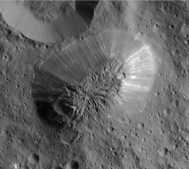 Ceres' Ahuna Mons Mountain