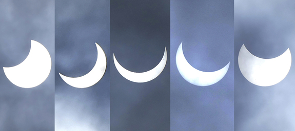Partial solar eclipse over Arusha, Tanzania, on Sept. 1, 2016.