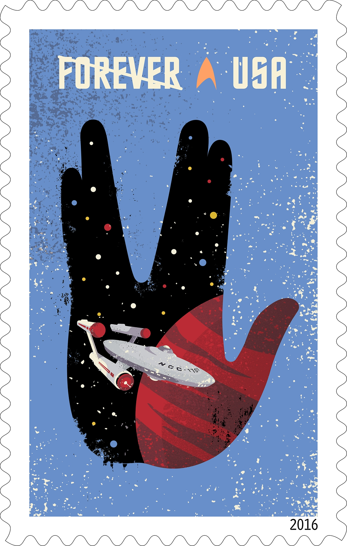 'Star Trek' 50th Anniversary Postage Stamps: USPS Photos