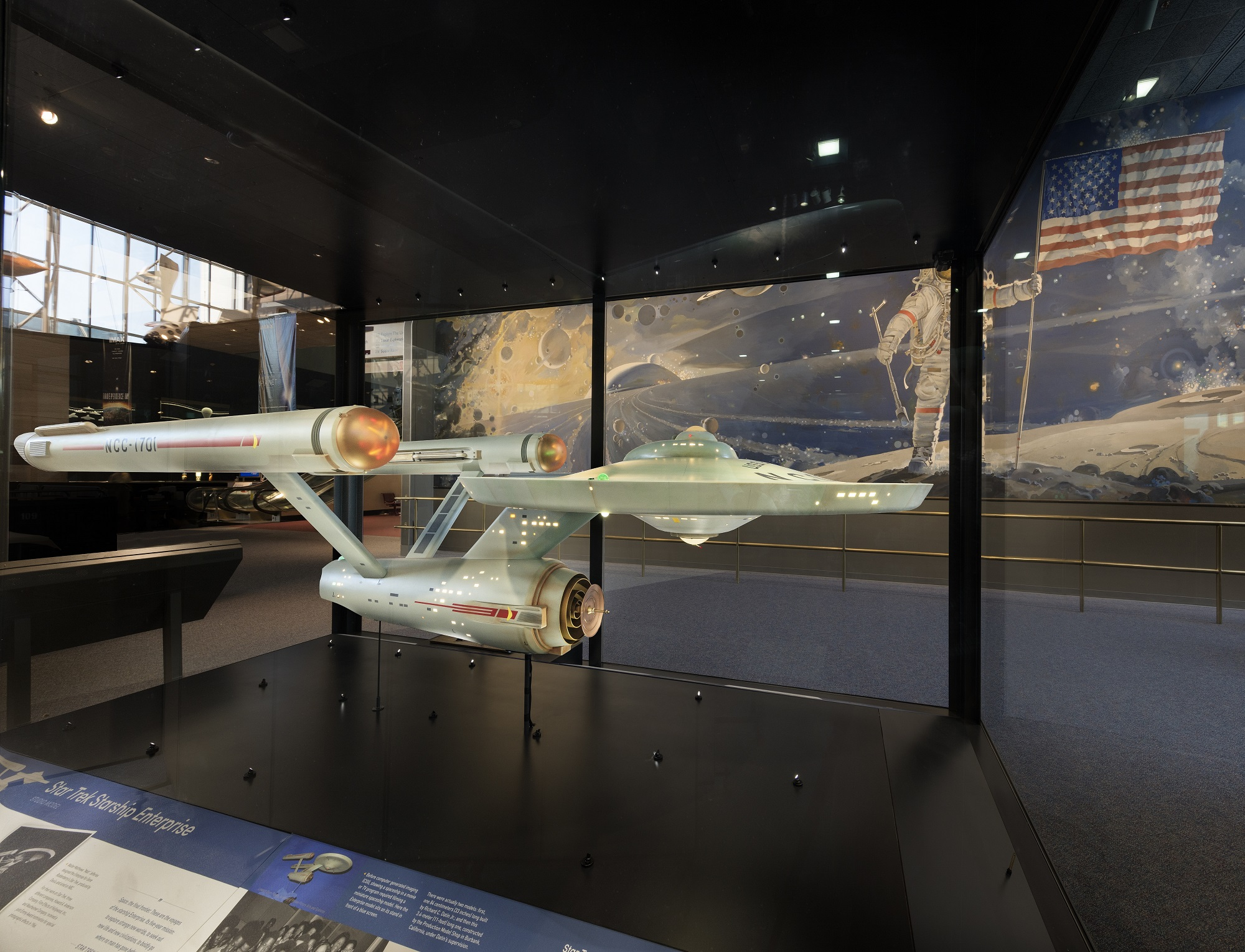 """The USS Enterprise from the original """"Star Trek"""" TV series is seen fully restored and on display at the Smithsonian's National Air and Space Museum in Washington, D.C."""