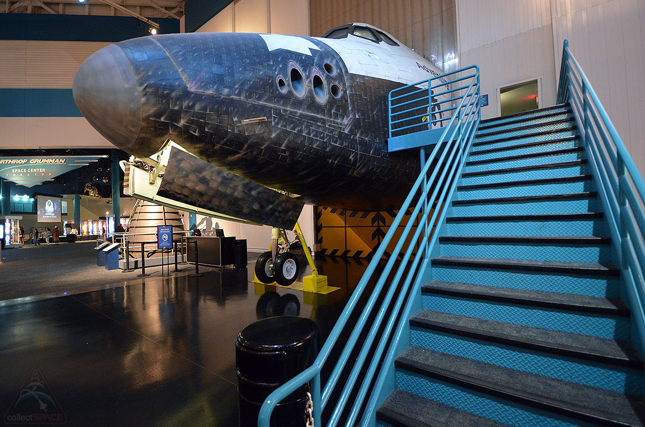 nearly 25-year-old mock space shuttle Adventure at space center houston