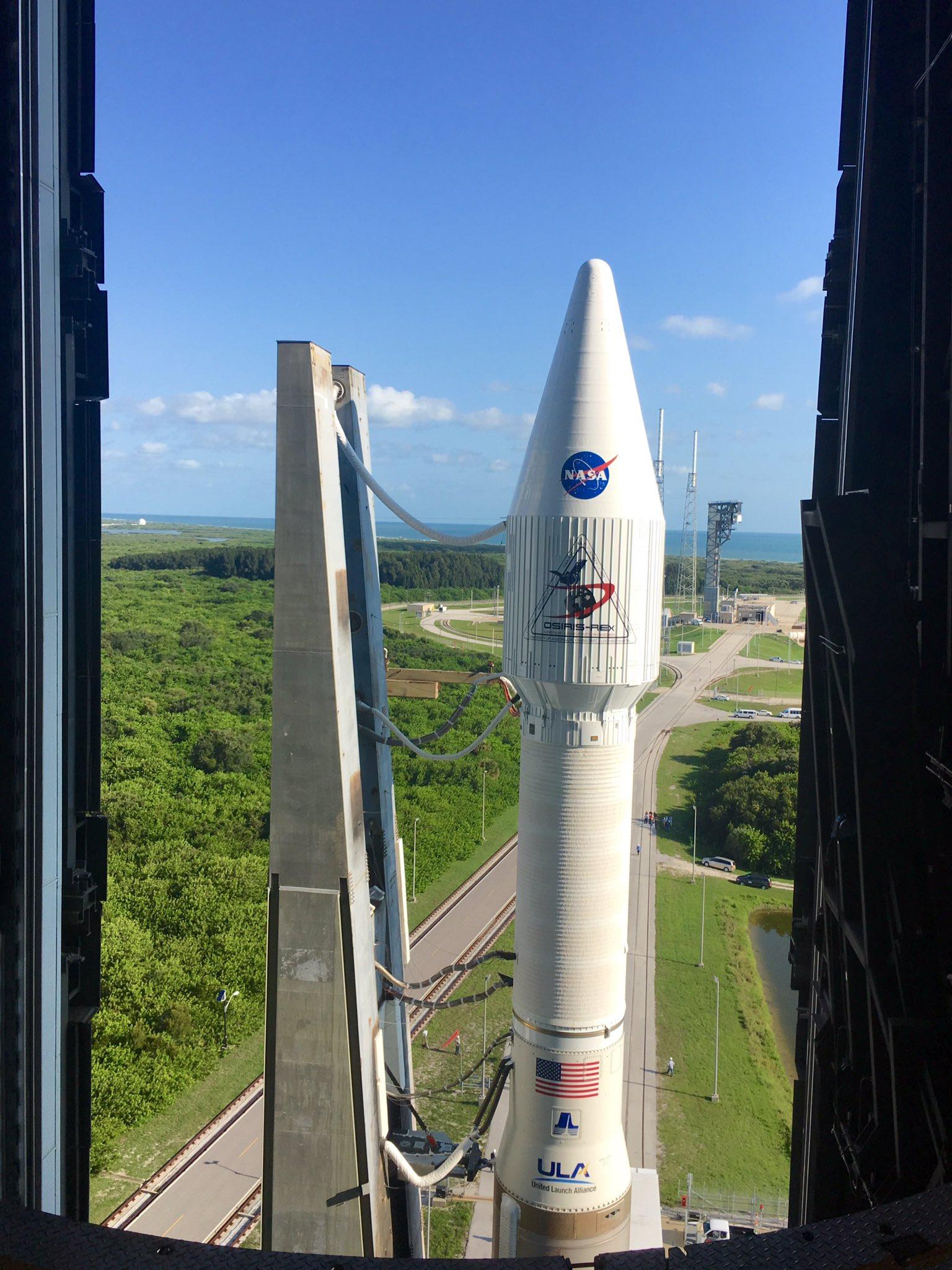 Atlas V and OSIRIS-REx Roll Out