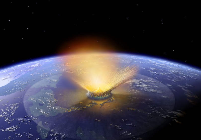 Asteroid Impact: Artist's Illustration