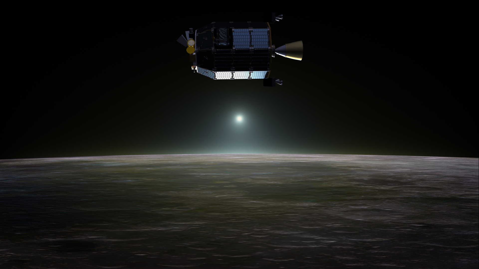 NASA's Lunar Atmosphere and Dust Environment Explorer (LADEE) spacecraft