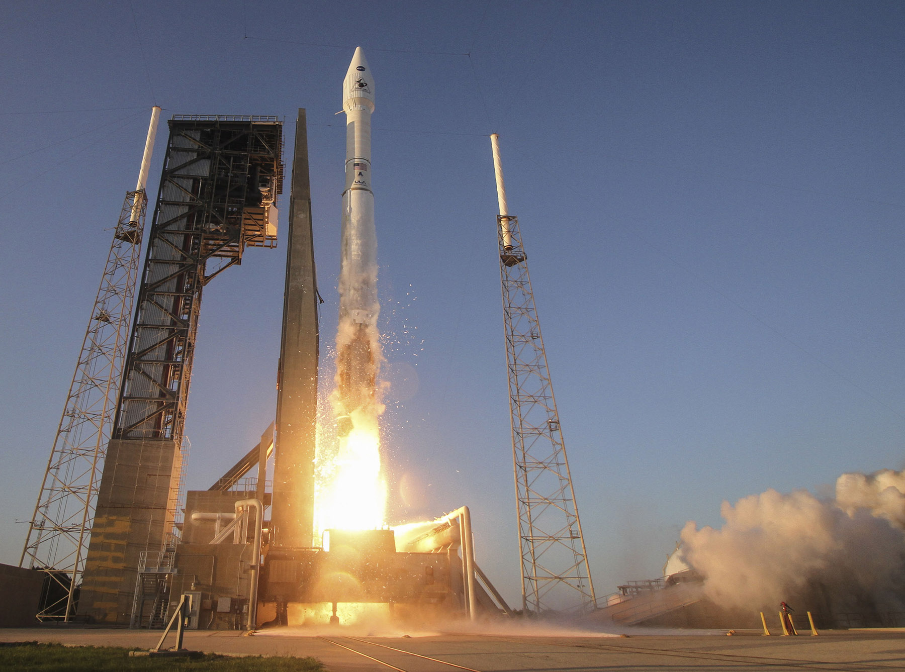 A United Launch Alliance Atlas V rocket carrying NASA's OSIRIS-REx mission launches into space from Cape Canaveral Air Force Station, Florida on Sept. 8, 2016.