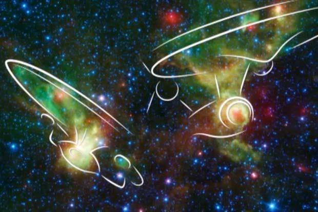 Space Telescope's 'Star Trek' Reveals 'Enterprise'-Shaped Nebulae   Video