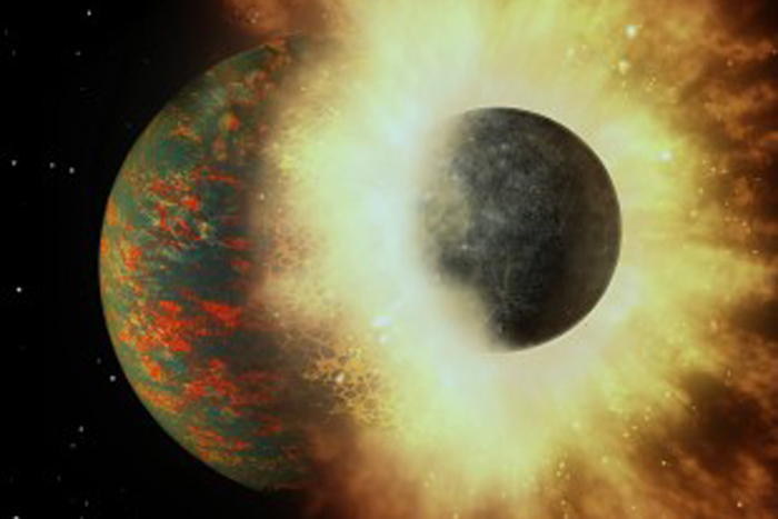 Crash! Early Collision Could Explain How Earth Kept its Carbon