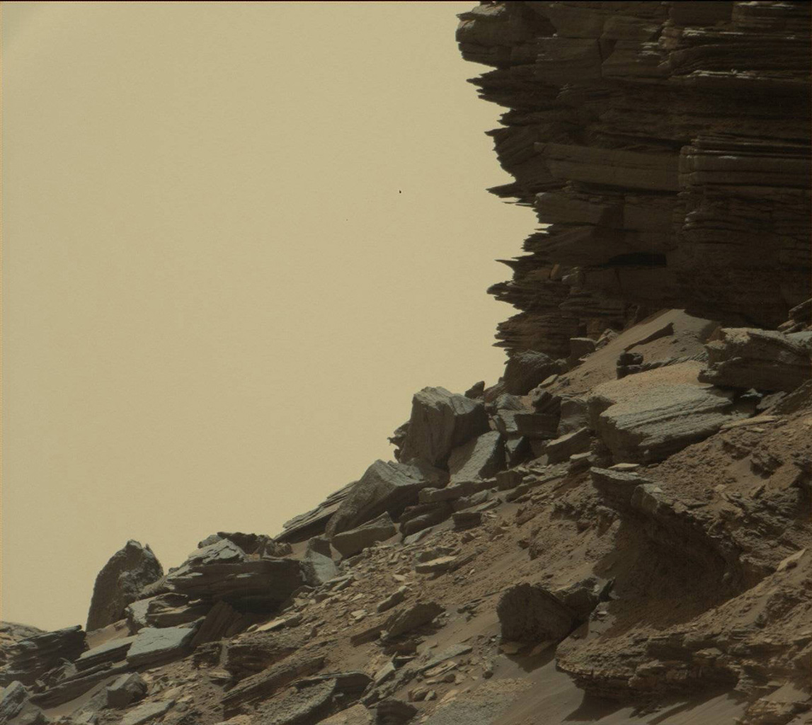 Stacked Rock Layers on Mars