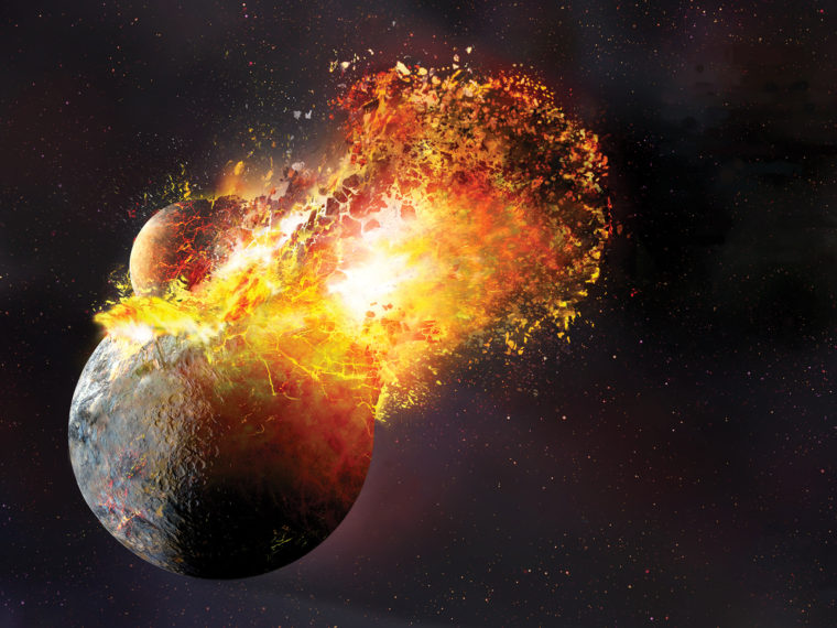 Boom rescaled: 'Extremely giant impact' may be behind making of Earth's moon