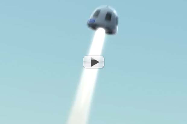 Blue Origin Capsule's Solid Rocket Motor Push In Case Of Emergency | Animation