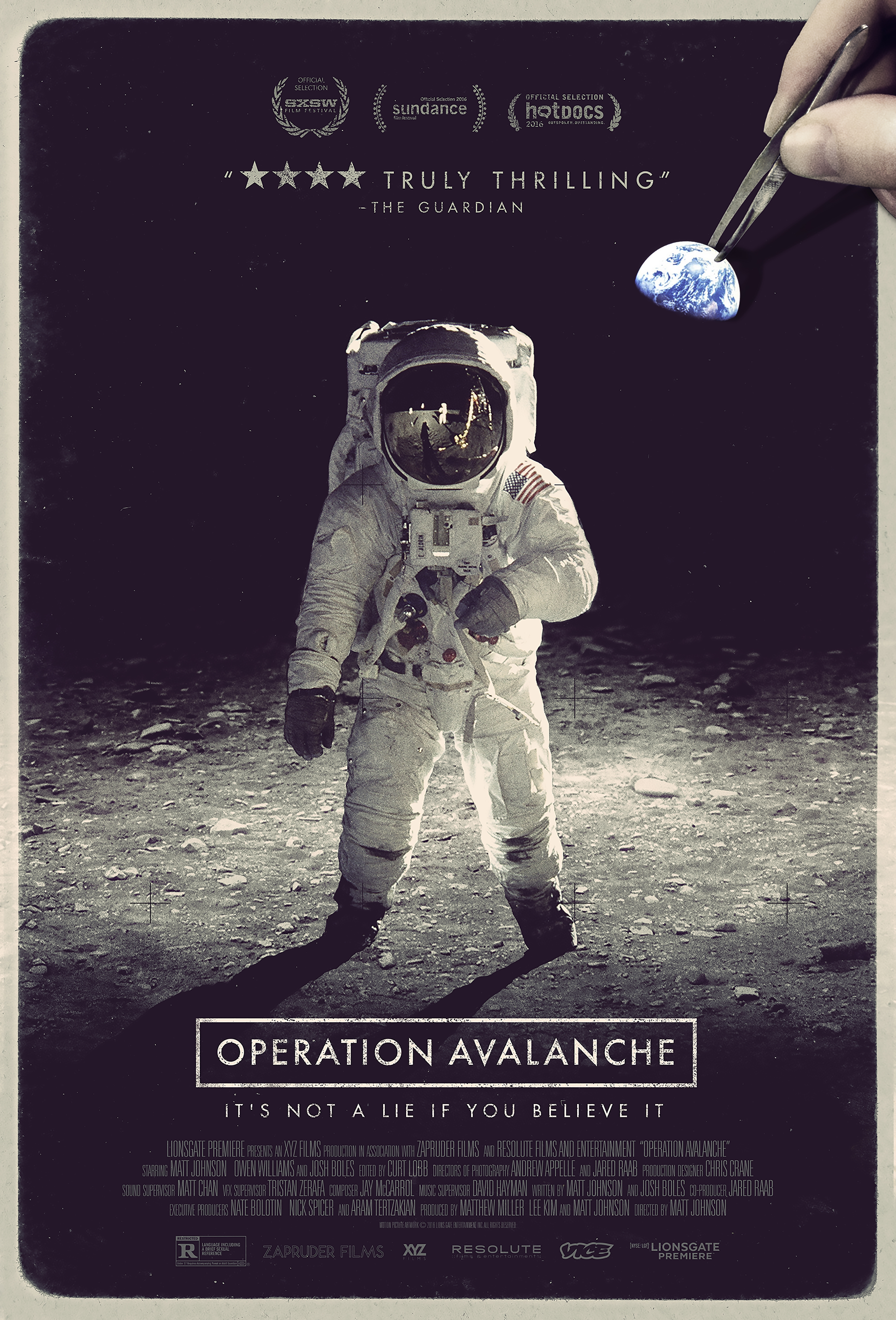 Official movie poster for Operation Avalanche
