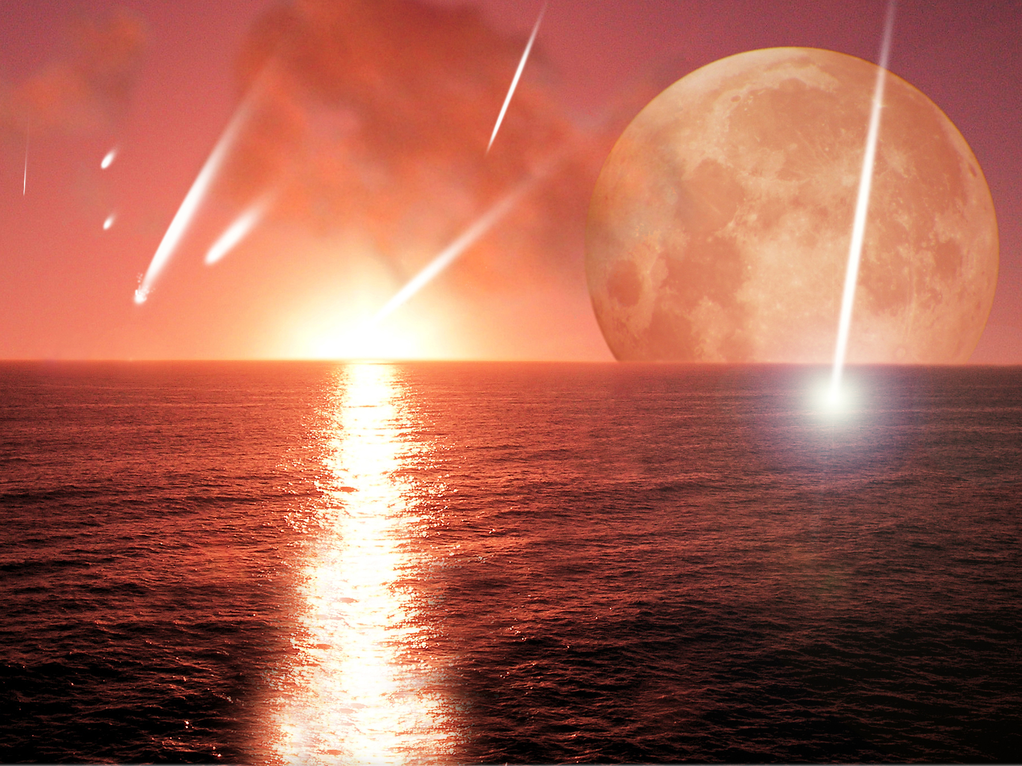 Meteors crashing into young Earth conception
