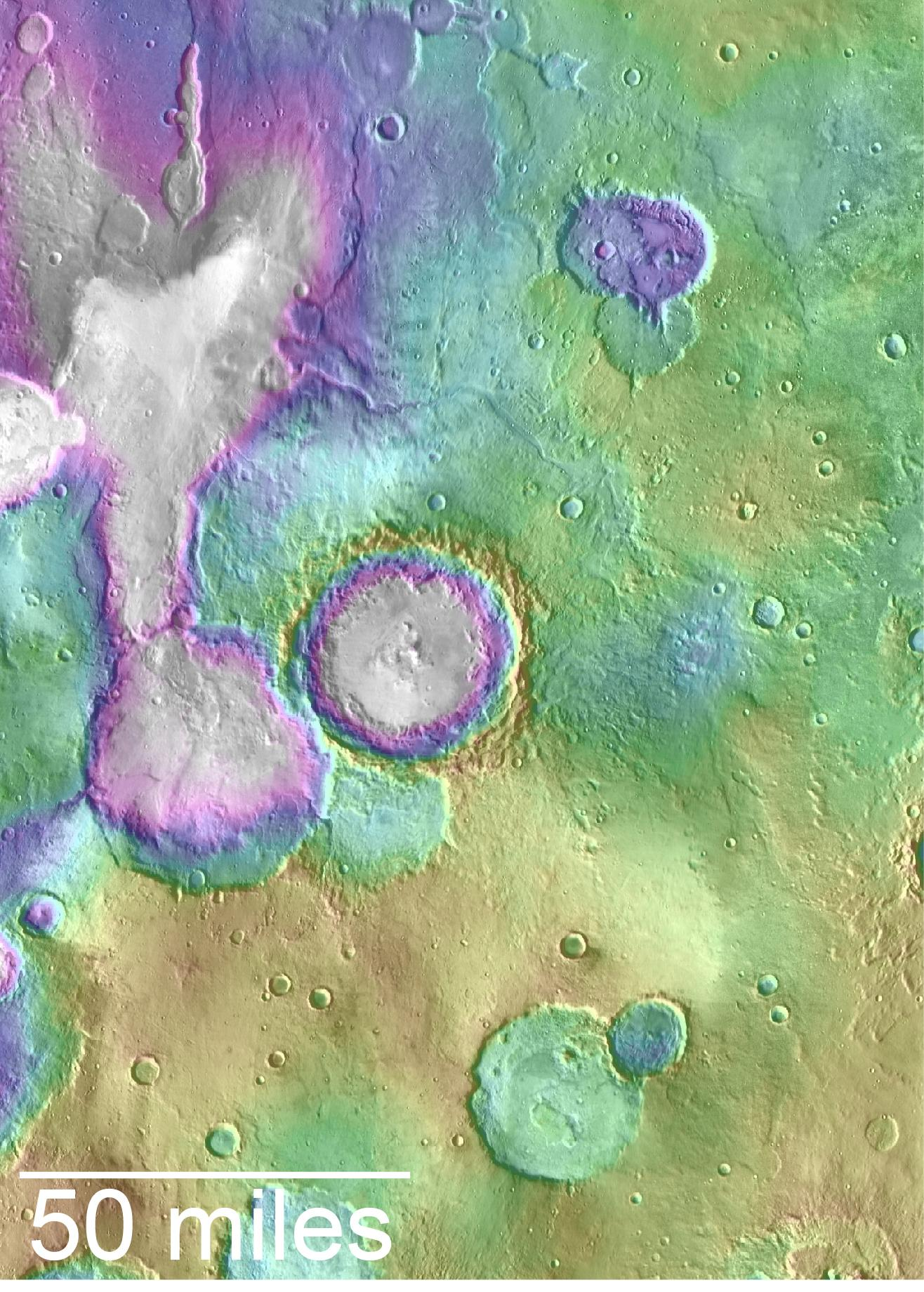Huge Mars Lakes Formed Much More Recently Than Thought