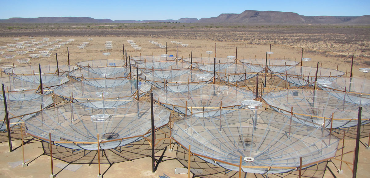 A digital image showing what the HERA radio array will look like with 240 antennas.