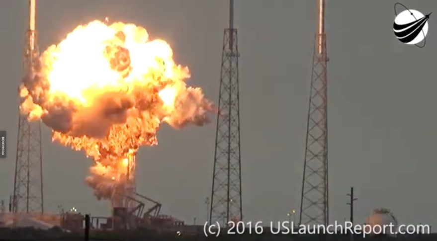 SpaceX Falcon 9 explosion