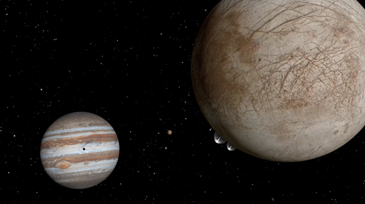Plumes on Europa: Artist's View