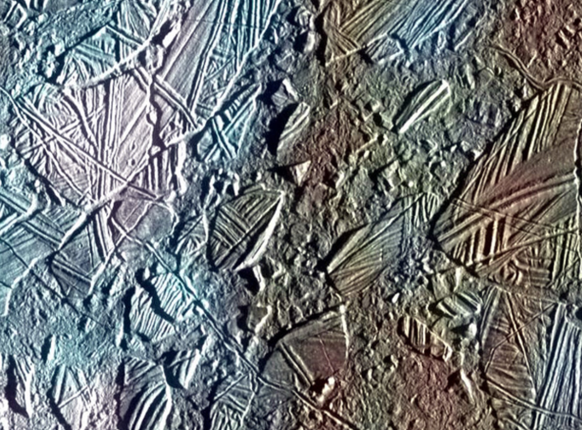 Chaotic Close-Up of Europa