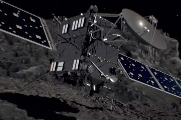 Rosetta Probe's 'Death Dive' Into Comet 67P Visualized
