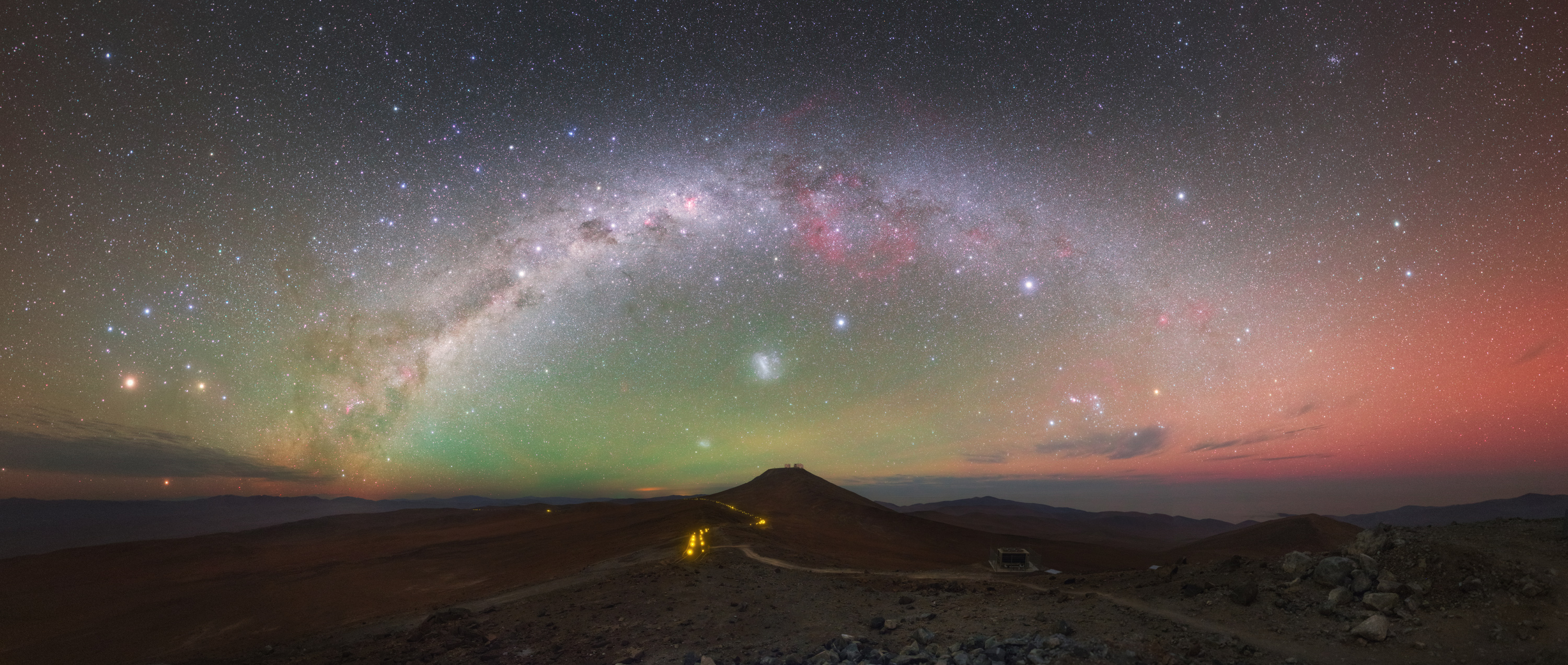 Spectacular Colors Paint Night Sky Over Chilean Desert (Photo)