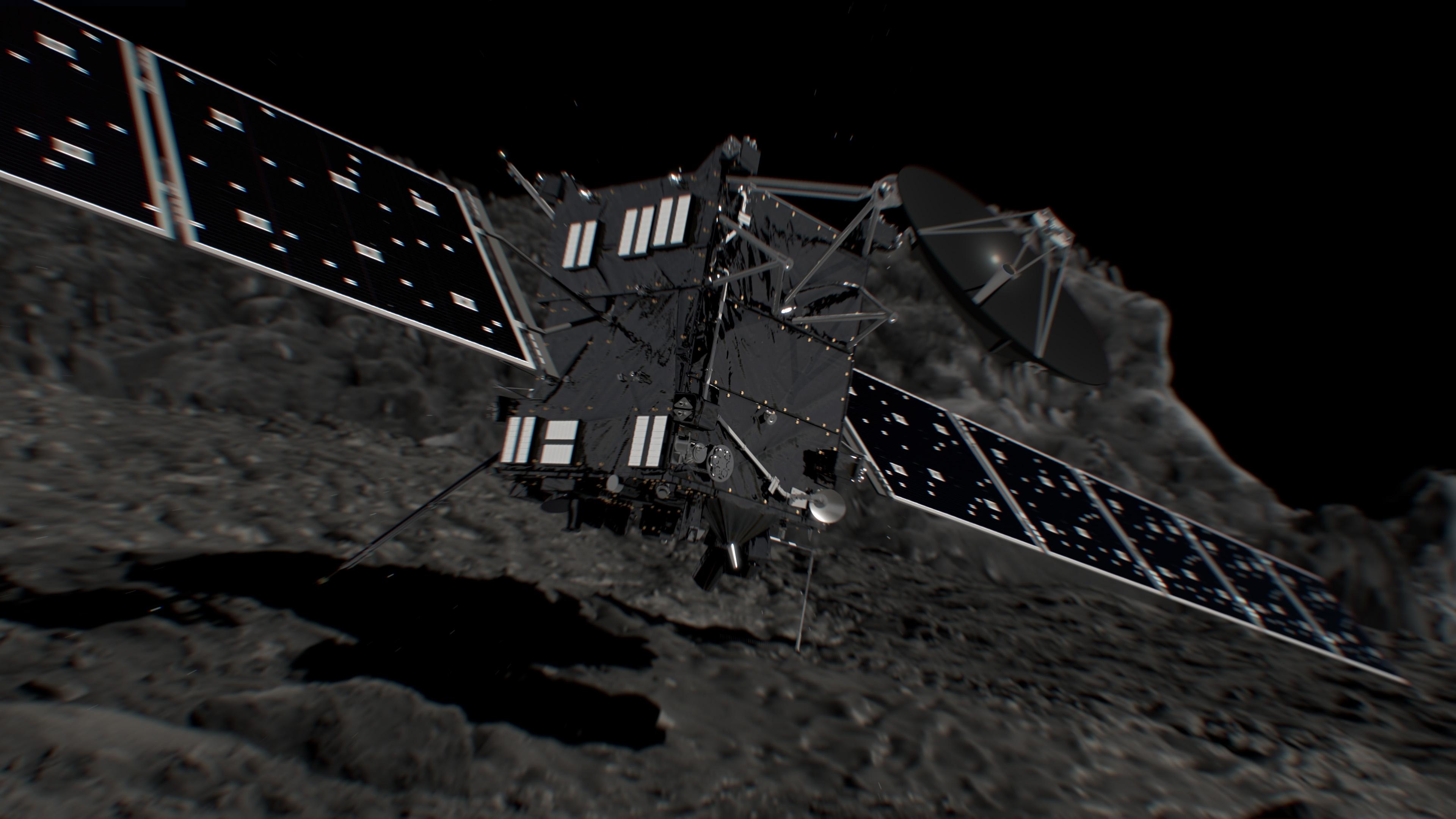 Rosetta Impact on Comet 67P: Artist's Illustration