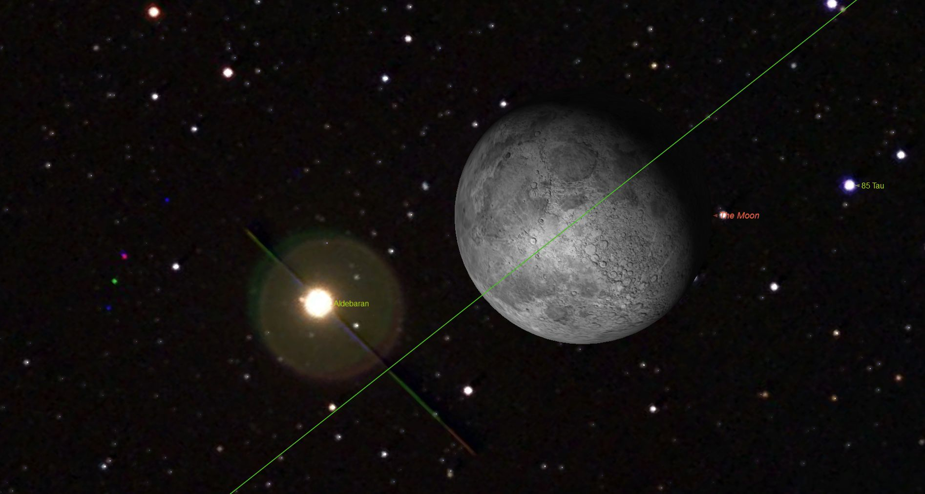 Nov. 5 - Occultation of Aldebaran